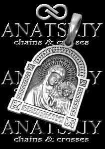 Серебряная ладанка Казанская Божья Матерь (609)