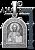 Серебряная ладанка Иисус Христос (611)